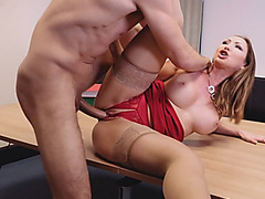 Office woman pussy fingered and slammed by her coworker
