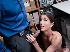 Shoplifter Sofie Marie loves LPs bigcock