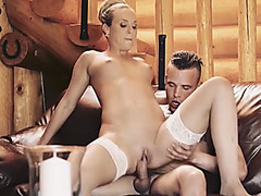 Frustrated housewife pays with pussy for the repairman