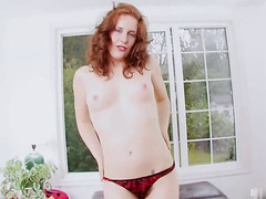 Helena Handbasket has been waiting for her new dildo to arrive in the