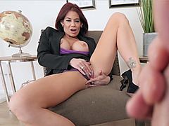 Mutual masturbation with my busty mature stepmother