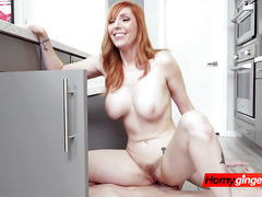 Ginger hottie is seduced by stepbrother into getting drilled in the kitchen