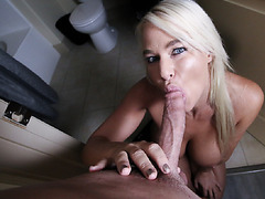 Stepson helping London shaved around her pussy and ass