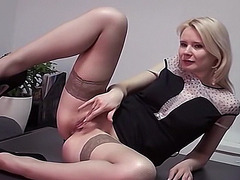 Fucking my hot blonde secretary in the office