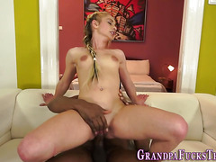 Teen gets pussy blacked