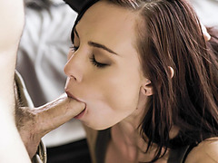 Aidra Fox submit herself to Robby like a good girl to keep her secret