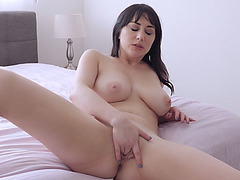 Stepson spying on his masturbating MILF stepmother