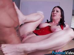 Kinky milf feet spermed