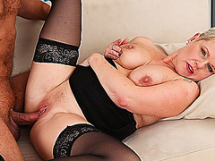 busty mom rough fucked by her toyboy