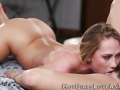 Anal les newbie ass toyed