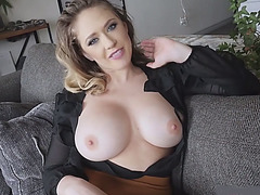 Big boobed MILF stepmom loves taboo sex with stepson