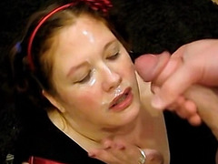 Amateur BBW gets throat fucked by a big hard cock