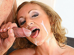 busty redhead mom gets rough doggystyle fucked by her big dick toyboy
