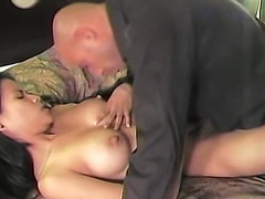 Busty Asian amateur loves being stuffed by white cock