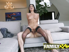 Trinity St. Clair rides a Cock to release stress