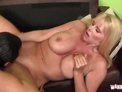 Bigass blonde vixen enjoying a black cock