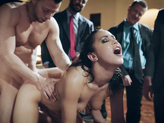 Hot vixen Alina Lopez fucked live on a stud party