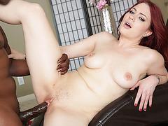 Gorgeous Redhead Jessica Ryan enjoys riding Lexington Steeles huge cock