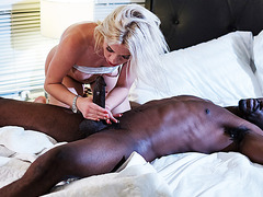 Blonde Teen Is Attracted To Her Black Step Dad