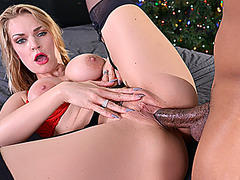 Big tit blonde Rachael Cavalli enjoys a big black cock