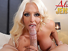 Busty blonde pornstar Alura Jenson gets fucked in POV