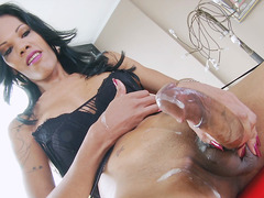 Trans Babe Priscylla Modella Plays With Her Big Cock