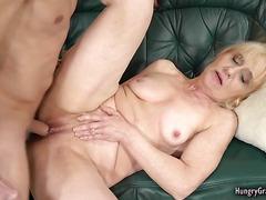 Horny dude enjoys fucking a sexy granny