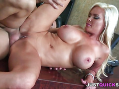 Voluptuous blonde milf fucked in the office