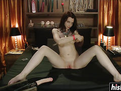 Sex toys make Amber moan loudly