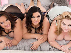 Rare BBW Orgy With 3 Oversized Cuties And A Hung Gentleman