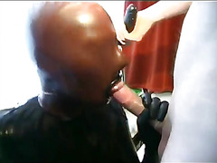 Horny master getting a nice blowjob