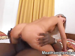 Cute blonde getting fucked by big dick