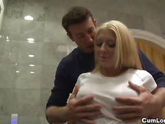 Alison Star hide a big cock on her huge tits