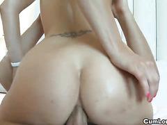 Hot Carla Cox got her ass stuffed and jizzed on