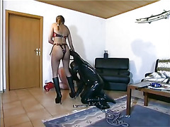 Ebony domina satisfying her needs