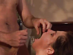 Hot couple enjoy face fucking and rough sex