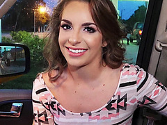 Sexy cock sucker Kimmy Granger gets her pussy hammered by stranger