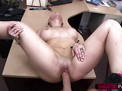 Beautiful and blondie stripper gets fucked by Shawn in his office