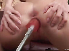 Blond Aimee Addison Gets Pussy Pummeled by Machine