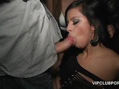 VIP sex party with hardcore gangbanging