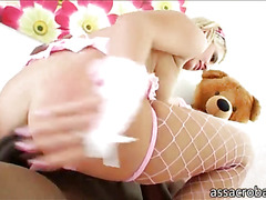 Andi Anderson anal ripped by black cocks