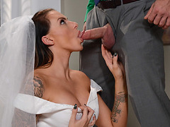 Bride to be Julia Ventura got fucked in the ass