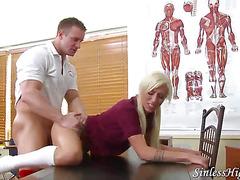 Schoolgirl Punished By Teacher
