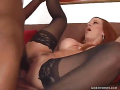 Horny Redhead Tasting the Chocolate Cock