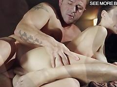Sexy pornstar Lucy Li BJ and twat banged