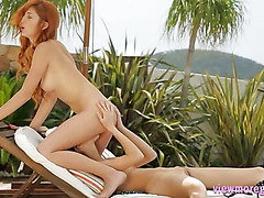 Michelle and Eveline lesbosex outdoors