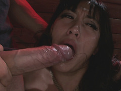 Mia Li gets rough deep throat action