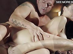 Sexy pornstar Lucy Li sucks and pounded