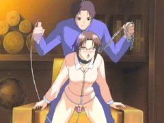 Chained hentai dildoed wetpussy and doggystyle assfucked