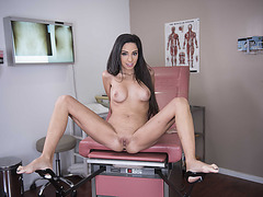 Busty babe Trinity gets a full load of cream after sex